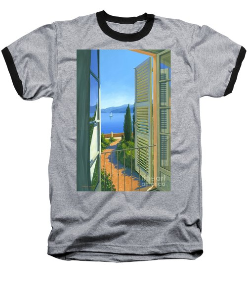 Baseball T-Shirt featuring the painting Como View by Michael Swanson