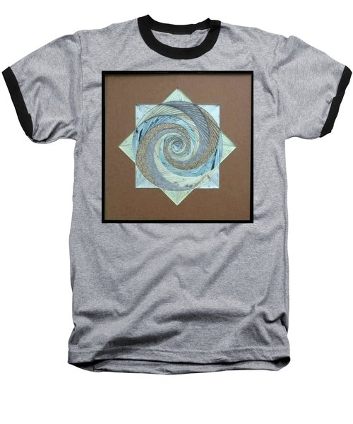 Baseball T-Shirt featuring the mixed media Compass Headings by Ron Davidson