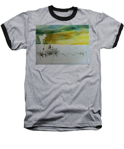 Composition2 Baseball T-Shirt by Mary Ellen Anderson