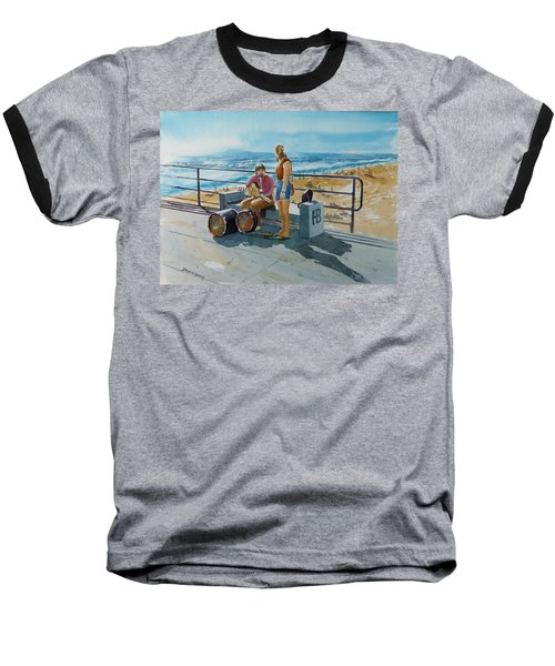 Concert In The Sun To An Audience Of One Baseball T-Shirt by Debbie Lewis