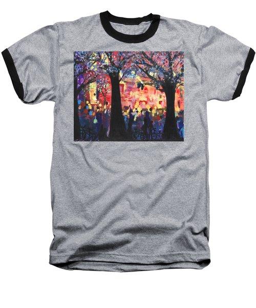 Concert On The Mall Baseball T-Shirt by Leela Payne