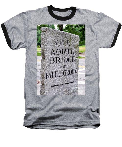 Concord Ma Old North Bridge Marker Baseball T-Shirt