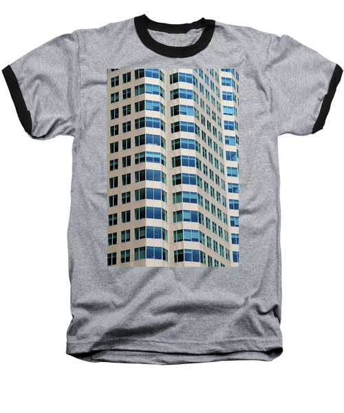Concrete And Blue Glass Baseball T-Shirt