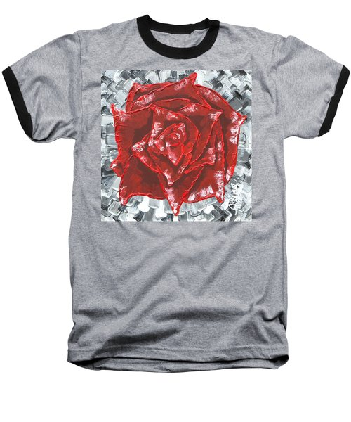 Concrete Rose  Baseball T-Shirt