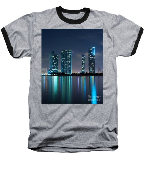 Baseball T-Shirt featuring the photograph Condominium Buildings In Miami by Carsten Reisinger