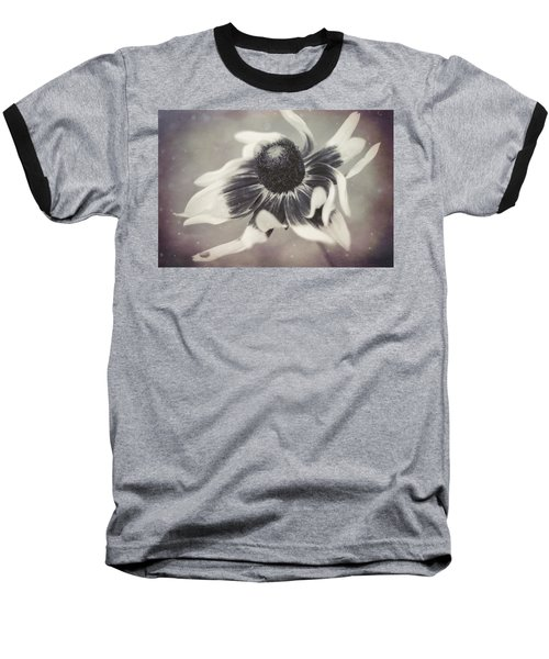 Coneflower In Monochrome Baseball T-Shirt