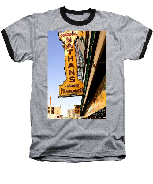 Coney Island Memories 1 Baseball T-Shirt by Madeline Ellis