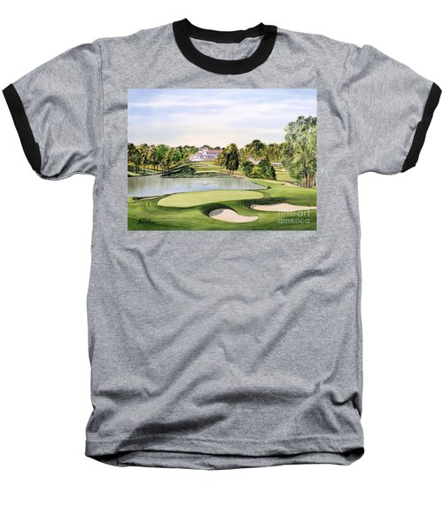 Congressional Golf Course 10th Hole Baseball T-Shirt by Bill Holkham
