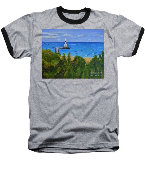 Summer, Conneaut Ohio Lighthouse Baseball T-Shirt