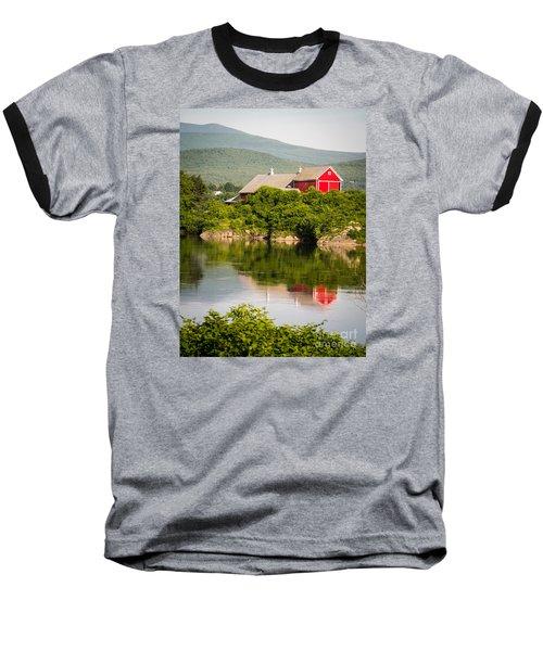 Baseball T-Shirt featuring the photograph Connecticut River Farm by Edward Fielding
