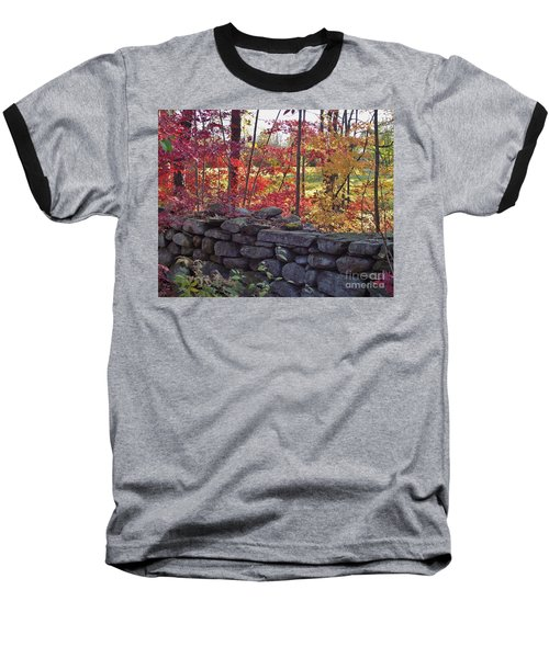 Connecticut Stone Walls Baseball T-Shirt