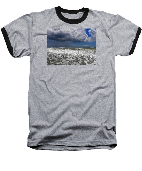 Conquering The Storm Baseball T-Shirt by Sandi OReilly