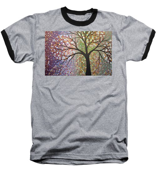 Baseball T-Shirt featuring the painting Constellations by Amy Giacomelli