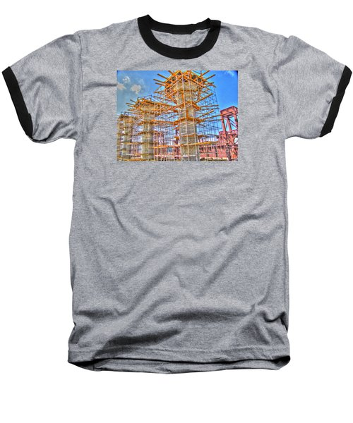 Baseball T-Shirt featuring the pyrography construction whsd  Peterburg by Yury Bashkin