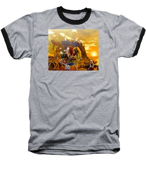 Baseball T-Shirt featuring the painting Constructors Of Time by Henryk Gorecki