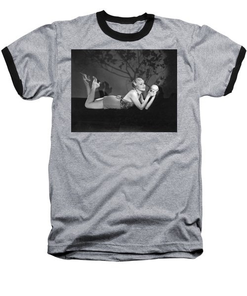 Contemplating A Grapefruit Baseball T-Shirt by Elmer Fryer