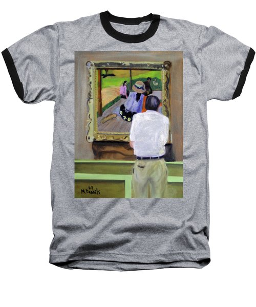Baseball T-Shirt featuring the painting Contemplating Gauguin by Michael Daniels