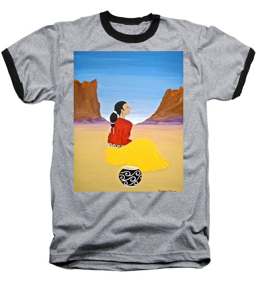 Contemplation Baseball T-Shirt by Stephanie Moore