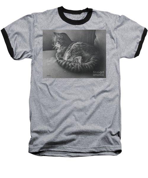 Contentment Baseball T-Shirt by Pamela Clements