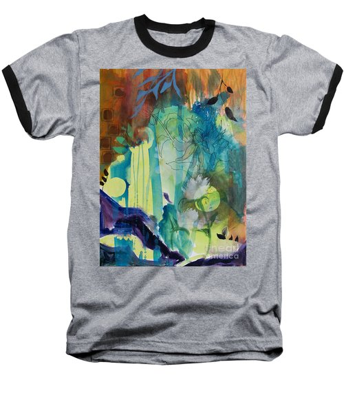 Baseball T-Shirt featuring the painting Continuum by Robin Maria Pedrero