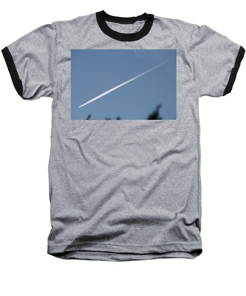 Contrail Baseball T-Shirt by David S Reynolds