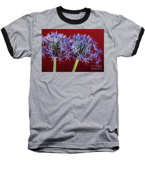 Baseball T-Shirt featuring the photograph Flowering Onions by Roselynne Broussard