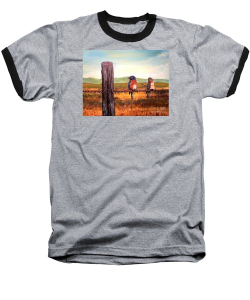 Conversation With A Fencepost Baseball T-Shirt