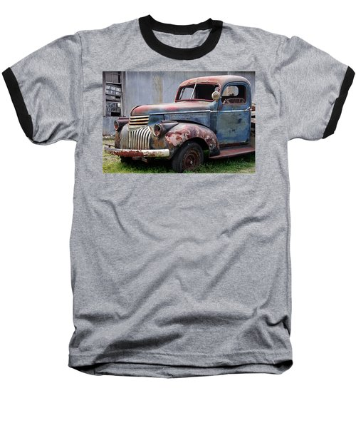 Baseball T-Shirt featuring the photograph Cool Blue Chevy by Steven Bateson