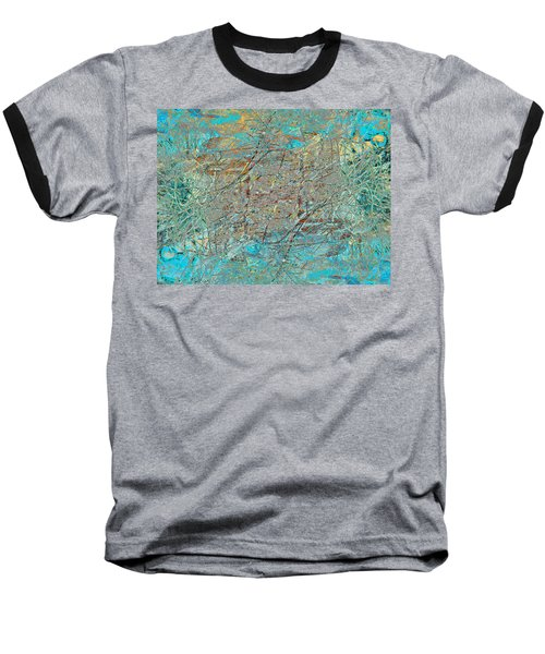 Baseball T-Shirt featuring the photograph Cool Blue Tangle by Stephanie Grant