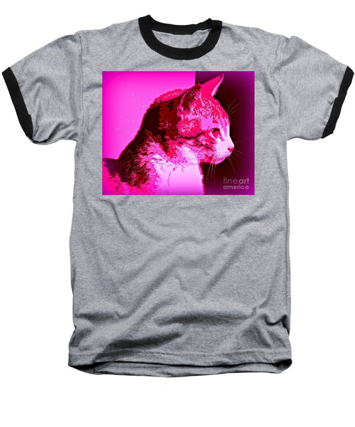 Baseball T-Shirt featuring the photograph Cool Cat by Clare Bevan