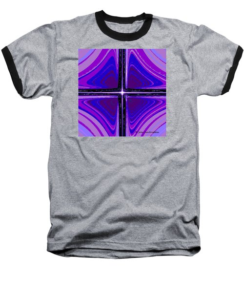 Baseball T-Shirt featuring the digital art Cool Tones by Joan Hartenstein