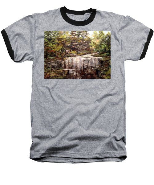Cool Waterfall Baseball T-Shirt by Dorothy Maier