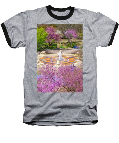 Coolidge Park Fountain In Spring Baseball T-Shirt