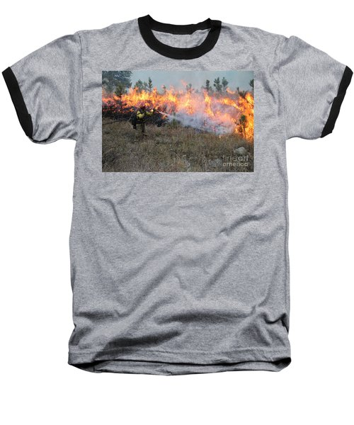 Cooling Down The Norbeck Prescribed Fire. Baseball T-Shirt