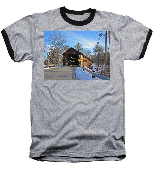 Coombs Covered Bridge Baseball T-Shirt by MTBobbins Photography