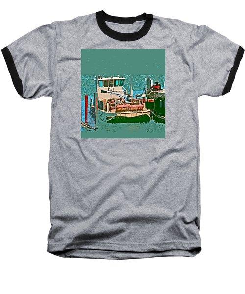 Coos Bay Oyster Farm Baseball T-Shirt