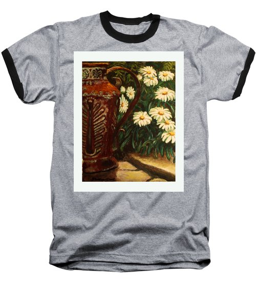 Copper And Daisies Baseball T-Shirt by Harriett Masterson