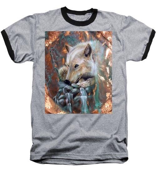 Copper Arctic Wolf Baseball T-Shirt