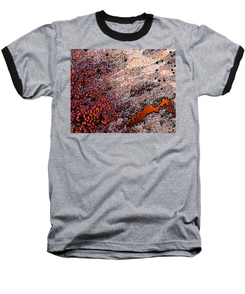 Baseball T-Shirt featuring the photograph Copperspill by Stephanie Grant