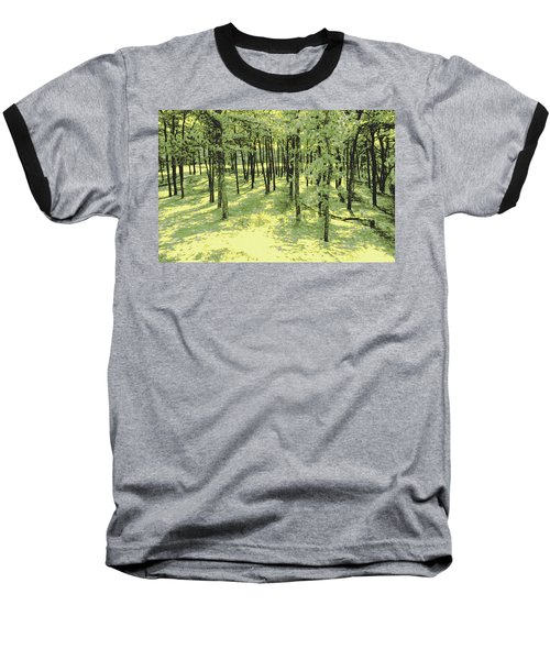 Baseball T-Shirt featuring the photograph Copse Of Trees Sunlight by Tom Wurl