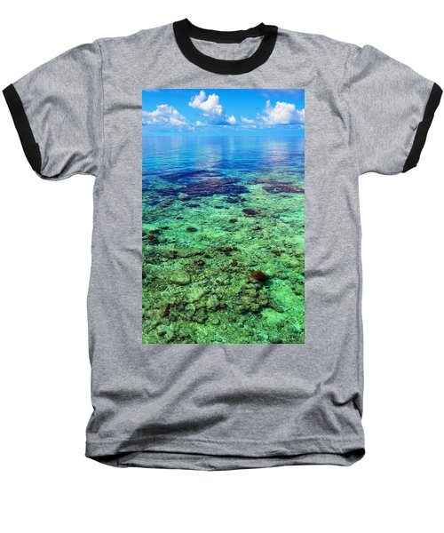 Coral Reef Near The Island At Peaceful Day. Maldives Baseball T-Shirt by Jenny Rainbow