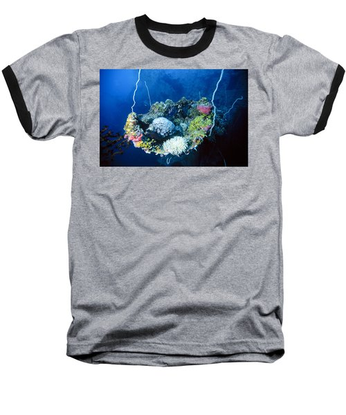 Corals On Ship Wreck Baseball T-Shirt