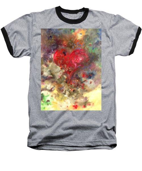 Corazon Baseball T-Shirt by Julio Lopez