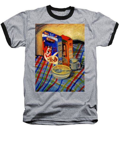 Baseball T-Shirt featuring the painting Corn Flakes by Michael Daniels