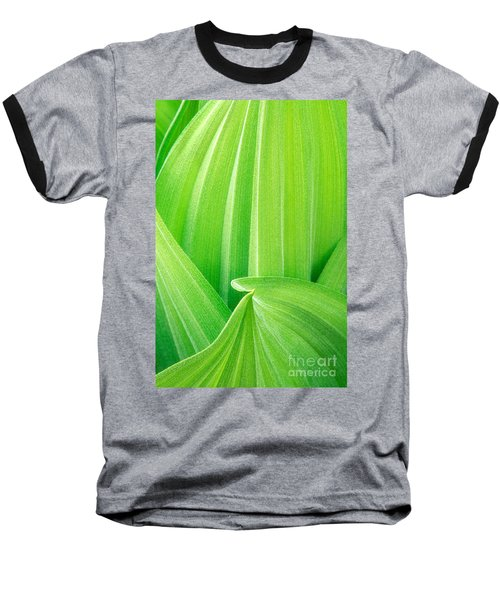 Baseball T-Shirt featuring the photograph Corn Lily Leaf Detail Yosemite Np California by Dave Welling