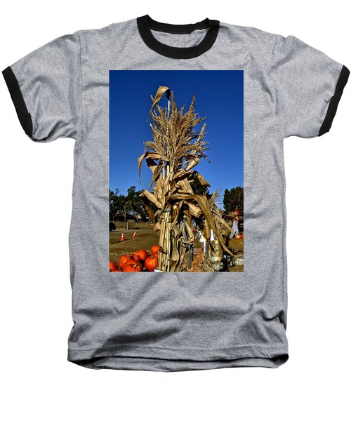 Baseball T-Shirt featuring the photograph Corn Stalk by Michael Gordon