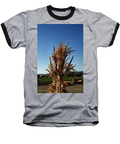 Baseball T-Shirt featuring the photograph Corn Top by Michael Gordon