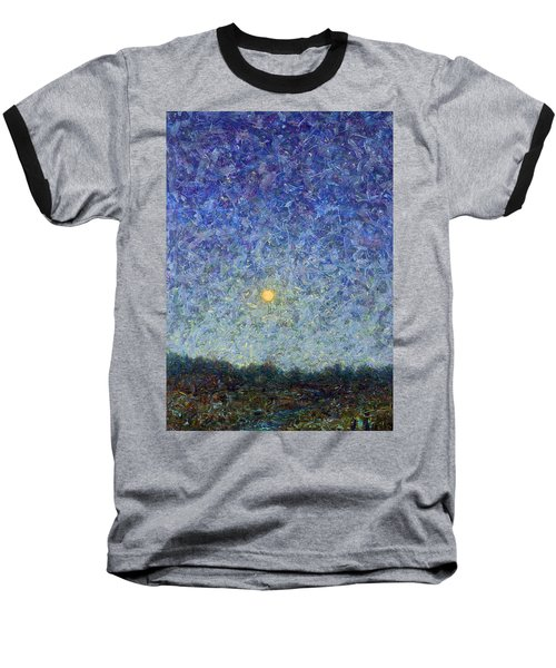 Baseball T-Shirt featuring the painting Cornbread Moon by James W Johnson