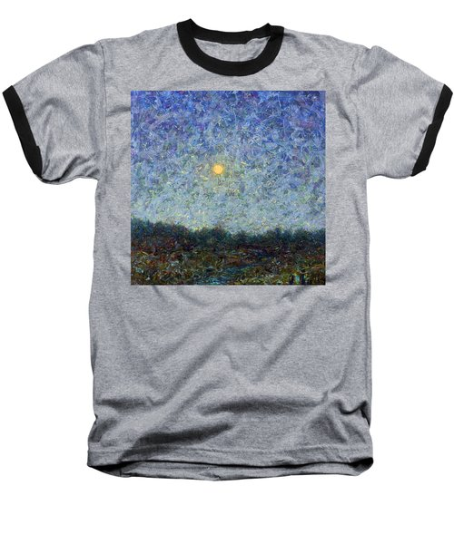 Baseball T-Shirt featuring the painting Cornbread Moon - Square by James W Johnson