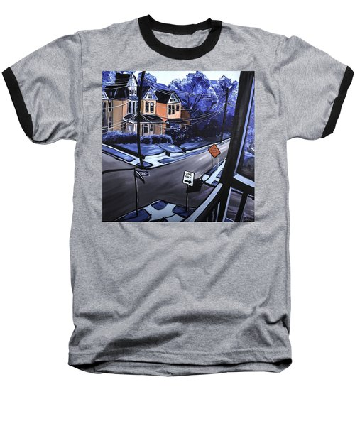 Baseball T-Shirt featuring the painting Corner View by Jennifer Noren